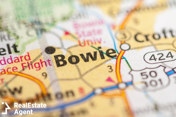 bowie maryland usa map