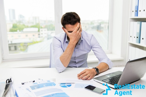 business people fail parperwork