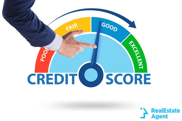 businessman in credit score concept