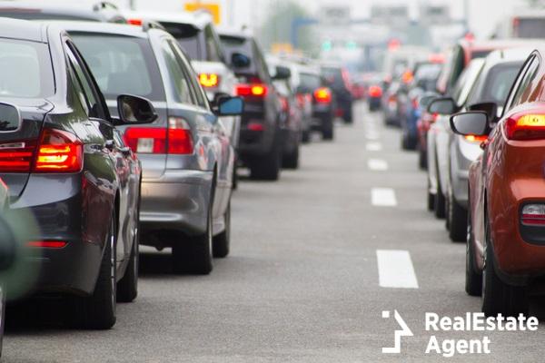 cars on highway traffic