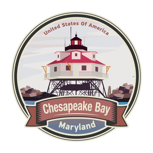 chesapeake bay maryland vector illustration