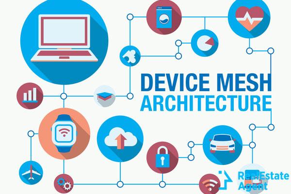 device mesh architecture vector illustration