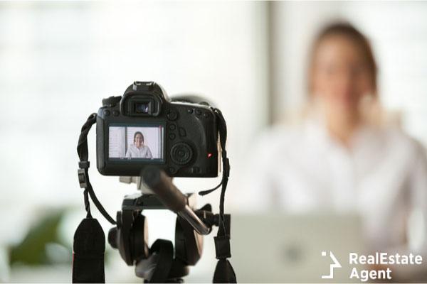 Camera recording a vlog