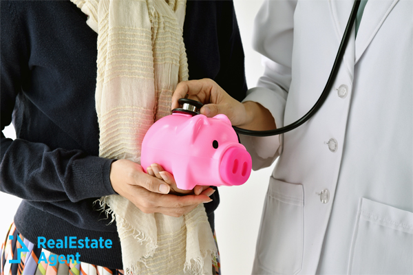 Doctor checking health of savings