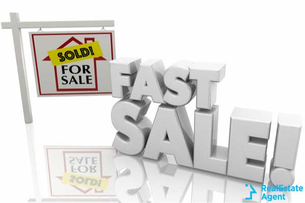 fast sale house sign words