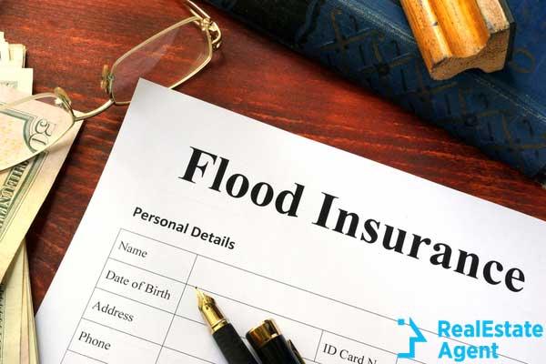 flood insurance form on table