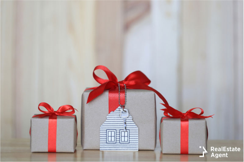 gift boxes real estate concept