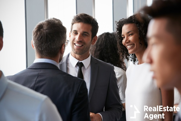 business people havign informal office meeting