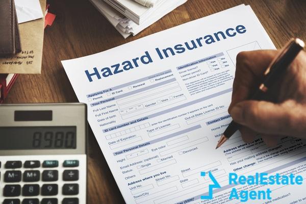 hazard insurance home concept