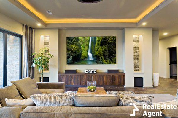 home theater in a luxury house