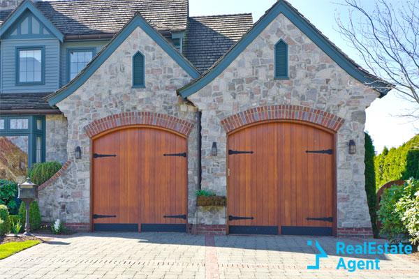very cool wodden garage door