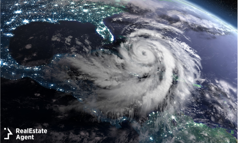 Hurricane as viewed from outer space