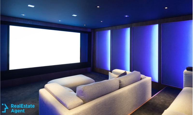 luxury interior home theater