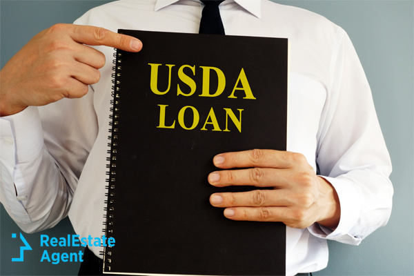 Man pointing out USDA loan