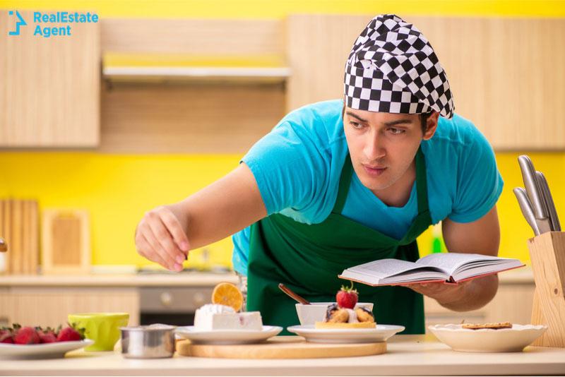 man cook preparing