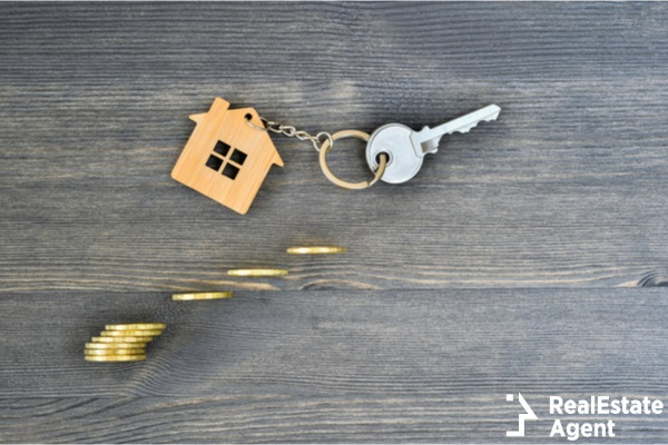metal key new home concept