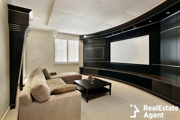 modern theater room