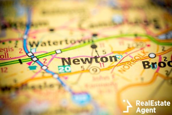 newton ma map