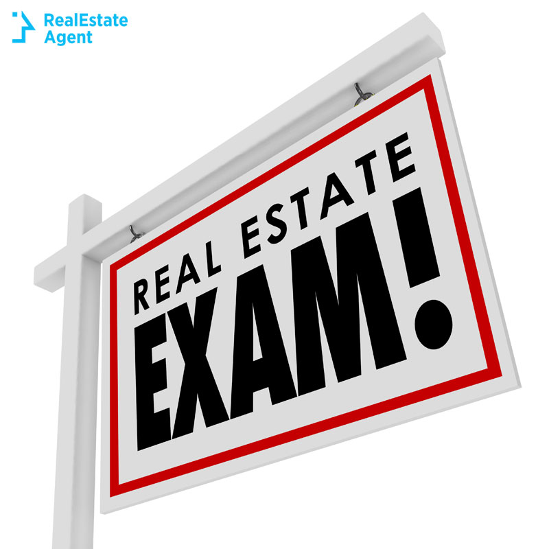real estate exam sign
