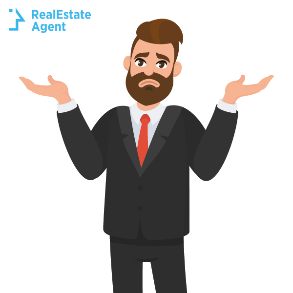 real estate agent worried