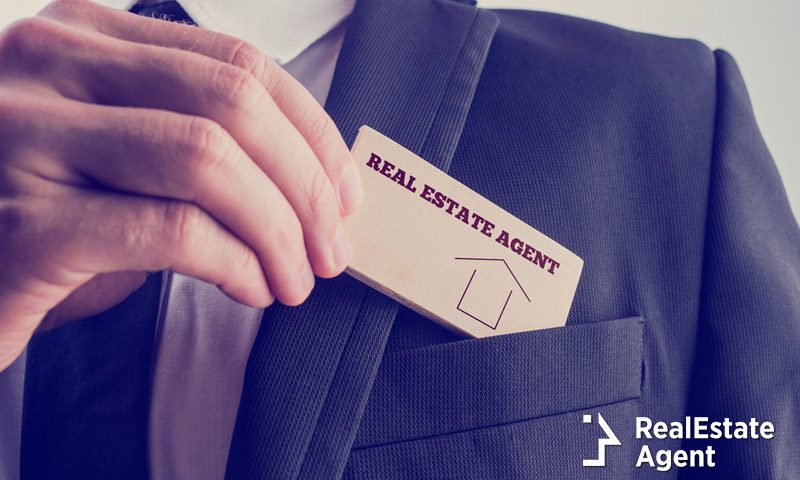 real estate agent in suit