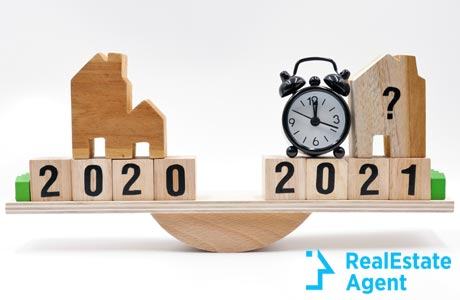 scale comparing 2020 vs 2021 house market