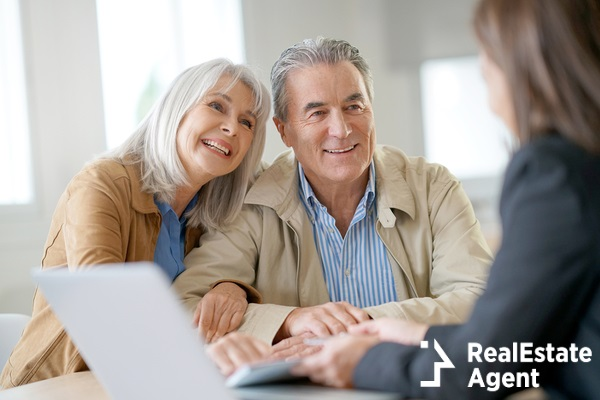 senior people meeting financial adviser