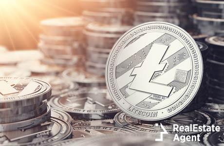 silver litecoin in 3d