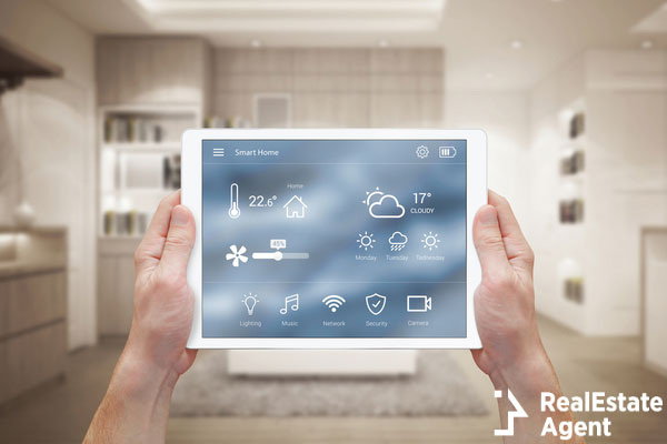 smart home control on tablet