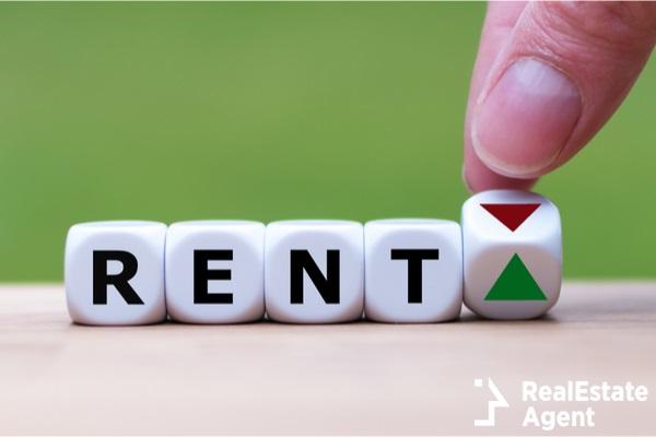 symbol for increasing rent