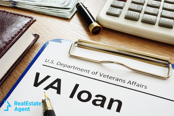 VA Loan application on clipboard