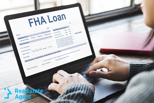 FHA Loan application being filled out by woman
