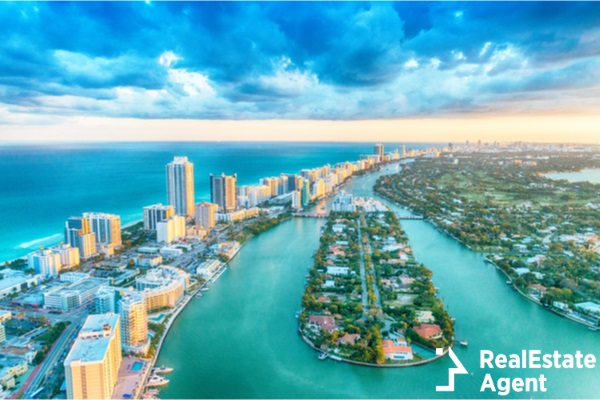 wonderfull miami aerial view