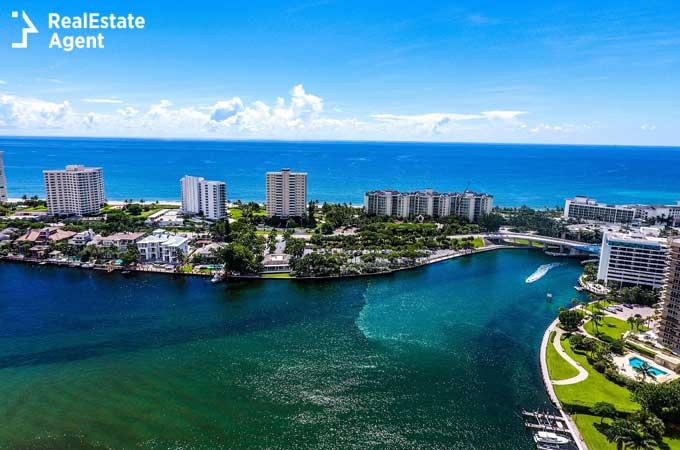 Boca Lake aerial view