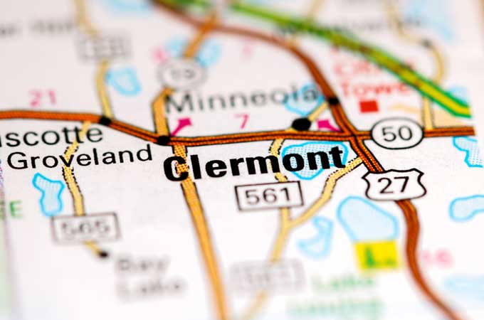 Clermont Florida map placement