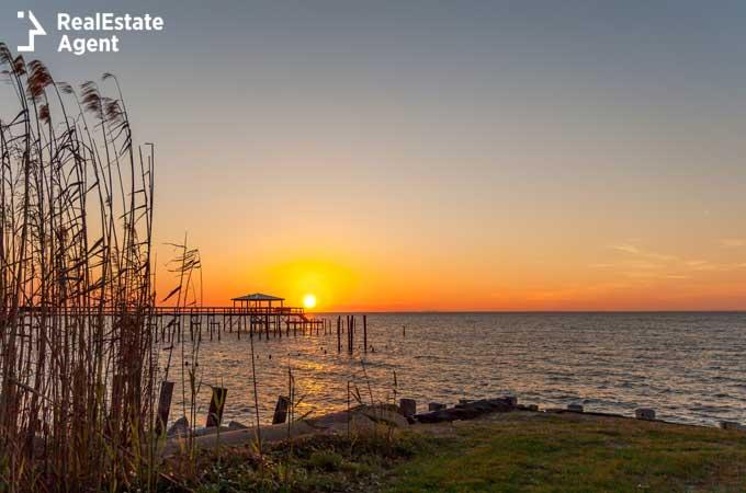 Orange sunset in Foley Alabama