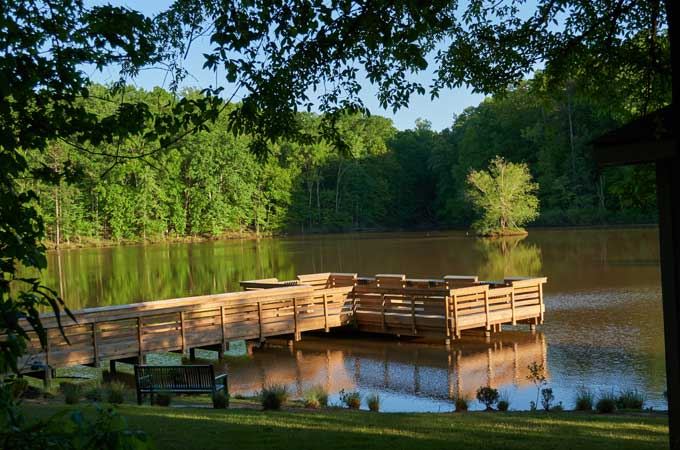 fort mill fishing deck on the lake