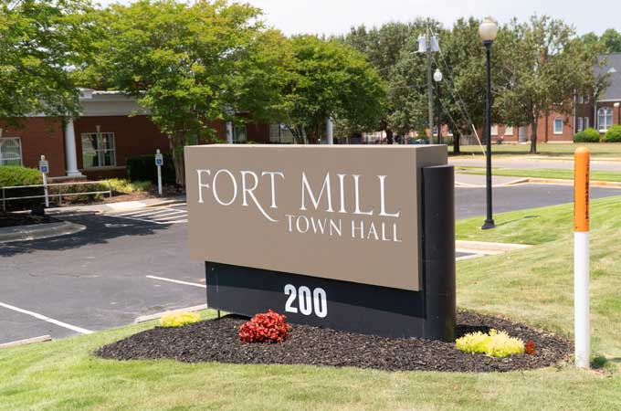 fort mill town hall sign