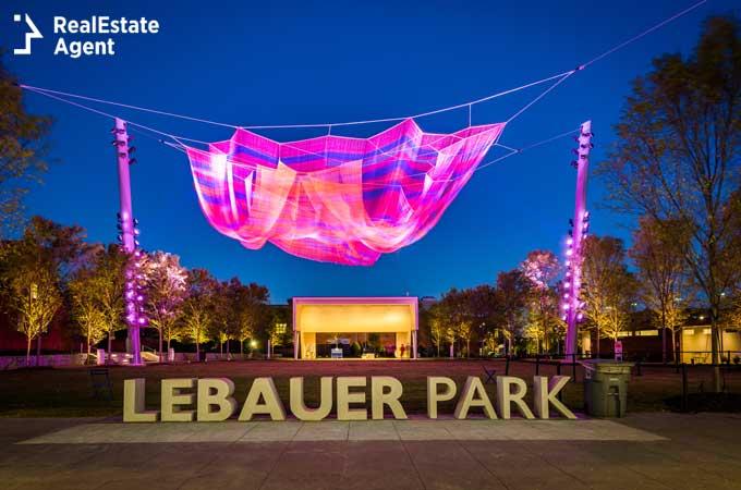 image of Lebauer park in Greensboro NC