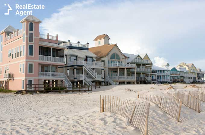 Gulf Shores homes on the beach