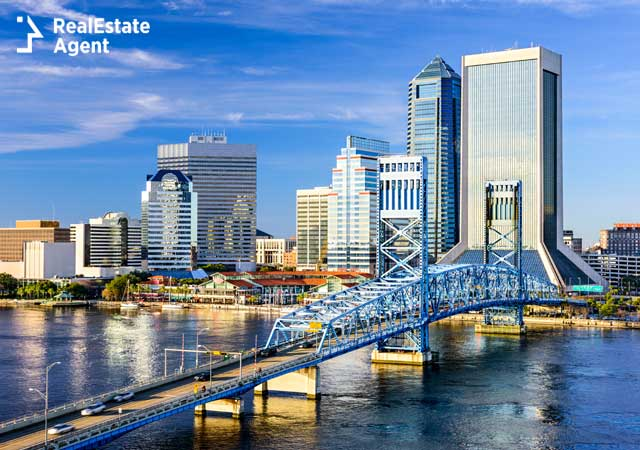 Downtown image of Jacksonville FL