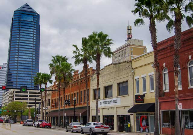 historic downtown of Jacksonville FL