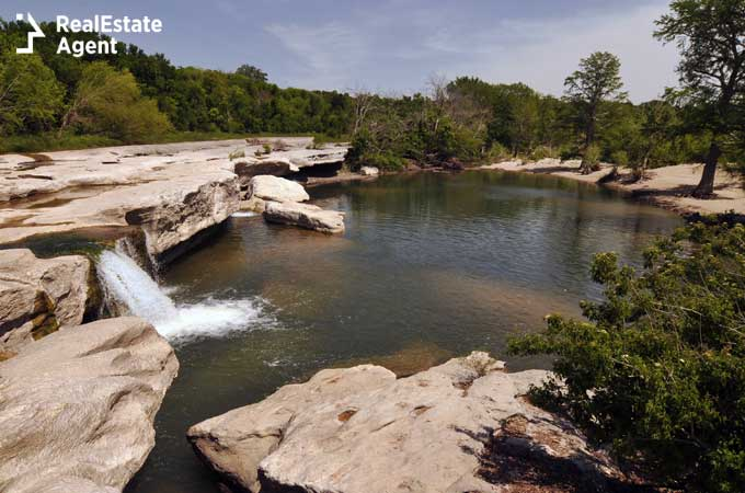 Lower falls in McKinney Texas