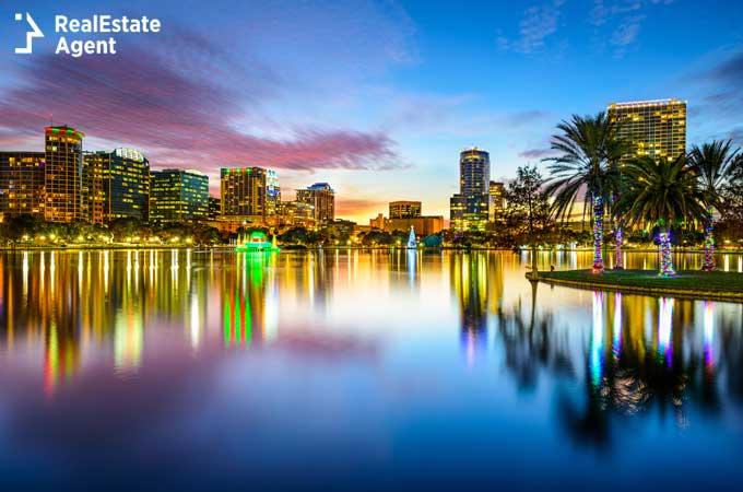 Orlando FL downtown skyline