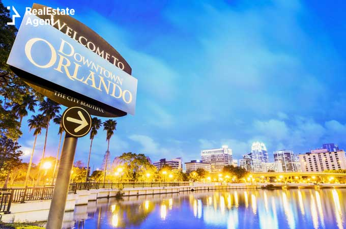 Orlando Florida welcome sign