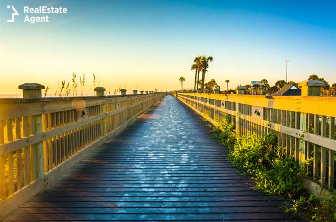 Beach view at Palm Coast Florida