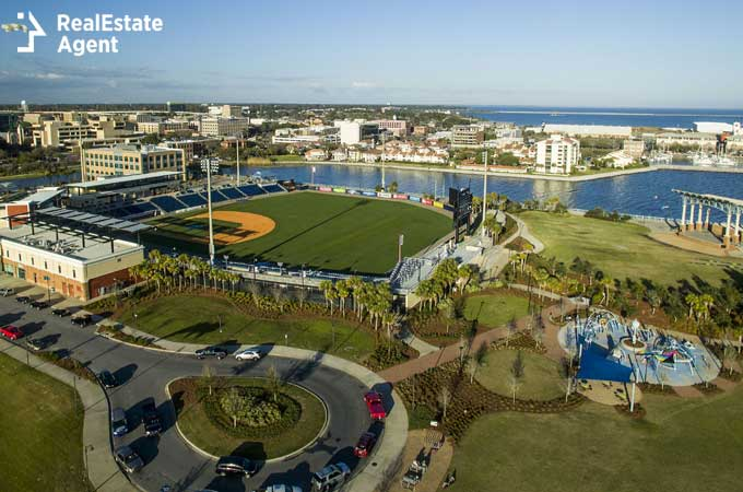 the Blue Wahoo Stadium in Pensacola FL