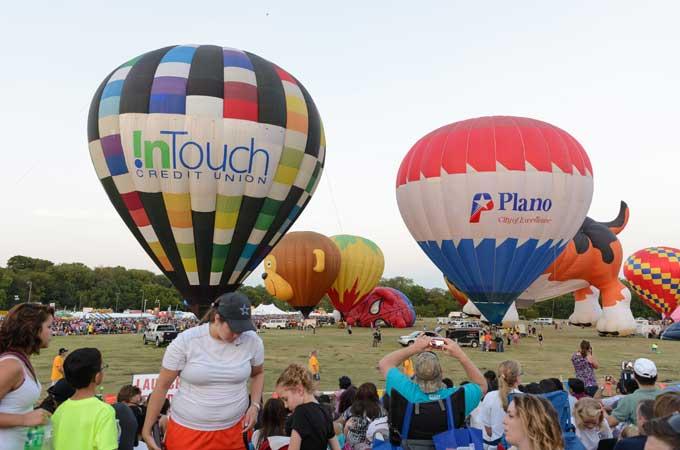 balloon festival in Plano TX