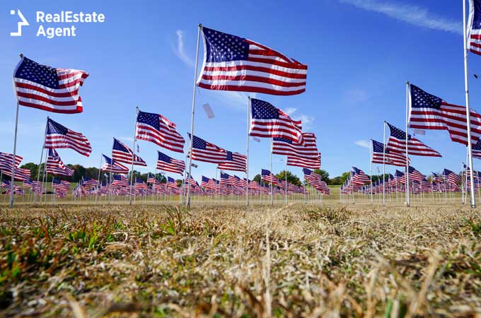 field of flags in Plano TX