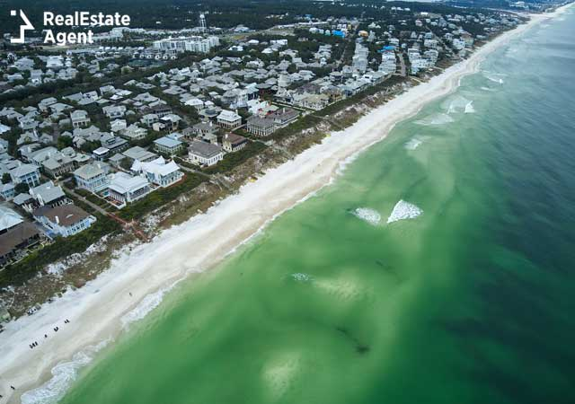Rosemary Beach FL aerial view